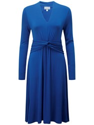 Pure Collection Gathered Jersey Dress Sapphire Blue