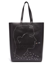 Calvin Klein 205W39nyc X Andy Warhol Leather Tote Black