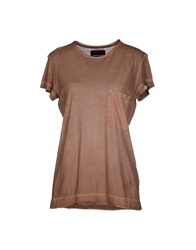 Diesel Black Gold T Shirts Brown