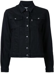 Maison Kitsune Classic Denim Jacket Black