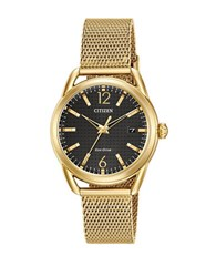 Citizen Drive Stainless Steel Mesh Bracelet Watch Gold