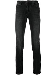 Philipp Plein Lightly Bleached Skinny Jeans Black