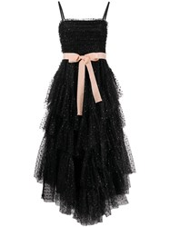 Red Valentino Bow Embellished Tulle Long Dress 60