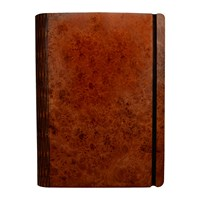 Bark And Rock Maple Burr Wooden Notebook Pocket 15.5X19cm