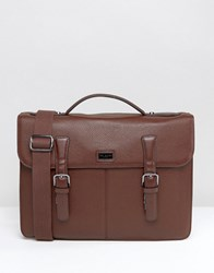 Ted Baker Satchel In Leather Brown