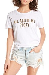 Pst By Project Social T Women's All About Ripped Tee White