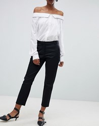 Selected Audrey Crop Chino Trousers Black