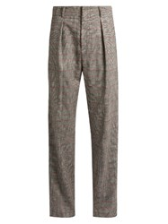 Isabel Marant Kelan Prince Of Wales Checked Trousers Grey Multi