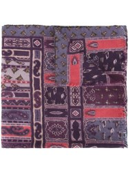 Etro 'Oriental' Scarf Pink And Purple