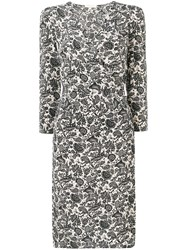 Vanessa Bruno Floral Print Dress Neutrals