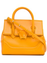 Versace Palazzo Empire Tote Women Leather One Size Yellow Orange