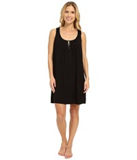 Midnight By Carole Hochman Modal Chemise With Satin Black Women's Pajama