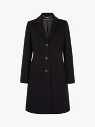 Four Seasons Slimline 3 Button City Coat Black