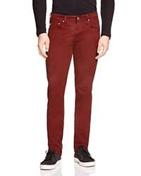 Ag Jeans Ag Matchbox Slim Fit Jeans In Red