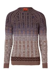 Missoni Wool Cable Knit Crewneck Pullover