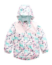 The North Face Tailout Fox Print Rain Jacket Pink