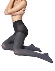 Hue Super Opaque Control Top Tights Grey