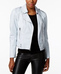 Marc New York Faux Leather Moto Jacket Seabreeze