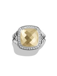 David Yurman Albion Ring With Diamonds And 18K Gold Gold Dome