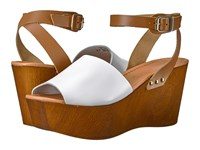 Seychelles Forward White Leather Women's Wedge Shoes