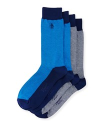 Penguin Pinto Two Pack Sock Set Navy Multi