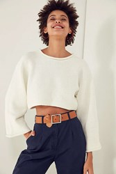 Silence And Noise Roll Neck Cropped Sweater White