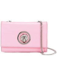 Versus Lion Head Stud Crossbody Bag Pink Purple