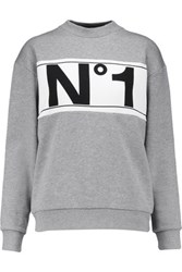 Etre Cecile Printed Cotton Sweatshirt Gray