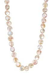 Natural White 13 14Mm Freshwater Coin Pearl Necklace
