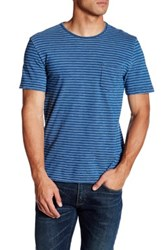 Faherty Pocket Tee Blue