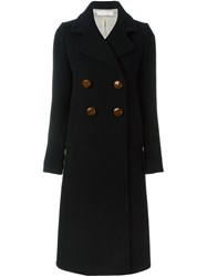 See By Chloe Double Breasted Long Coat Blue