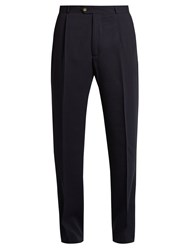 Editions M.R Tapered Leg Wool Trousers Navy