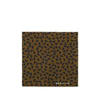 Paul Smith Turtle Print Cotton Pocket Square Olive