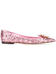 Dolce And Gabbana Bellucci Slippers Pink Purple