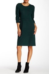 Cullen Seamed Cashmere Sweater Dress Green