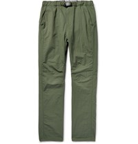 Nonnative Coach Easy Tapered Cotton Blend Shell Trousers Green