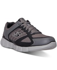 Skechers Men's On Track Wide Width Running Sneakers From Finish Line Charcoal Black