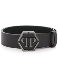Philipp Plein Logo Plaque Belt Black