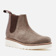 Grenson Women's Lydia Suede Chelsea Boots Vigogna Chocolate Metallic Brown