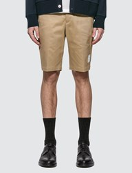 Thom Browne Unconstructed Chino Shorts Beige
