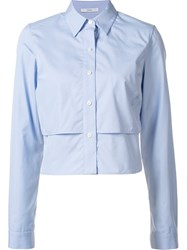 Tome Cropped Shirt Blue