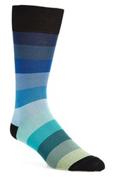 Men's Paul Smith 'Rainbow' Stripe Socks Blue