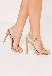 Missguided Nude Barely There High Heels Sandals