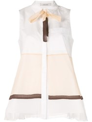 Dorothee Schumacher Power Sleeveless Shirt White