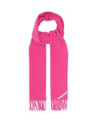 Acne Studios Holmes Logo Label Pilled Wool Twill Scarf Pink
