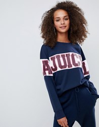Juicy Couture By Sports Logo Top Navy