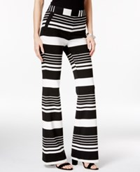 Inc International Concepts Striped Wide Leg Pants Only At Macy's Black White