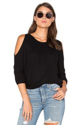 Chaser Cold Shoulder Dolman Thermal Tee Black