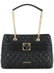 Love Moschino Quilted Shoulder Bag Women Polyurethane One Size Black