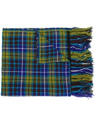 Altea Tartan Plaid Scarf Green